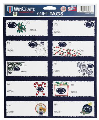 Wincraft - Penn State Holiday Gift Tag Sticker Sheet