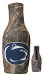 Penn State Logo Zippered Camo Bottle Koozie