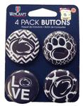 Penn State 4 Pack Fashion Buttons