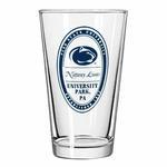 Penn State University 16oz Oval Pint Glass CLEAR