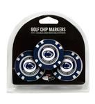 Penn State Poker Chip Golf Ball Marker 3 Pack
