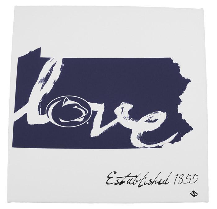 Penn State Pa Love 12x12 Canvas Souvenirs Home Signs