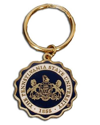 Midwest College - Penn State Seal Brass Key Chain