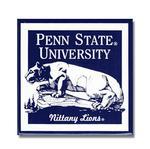 Penn State University Lion Shrine Magnet BLUEWHITE