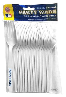 Duck House Sports - Penn State Plastic Forks- 24 Pack