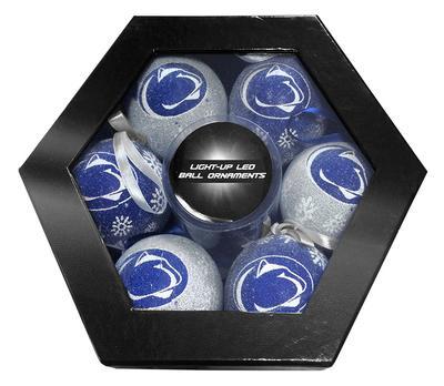 Team Sports America - Penn State LED Box Set Ornaments- 6 Pack