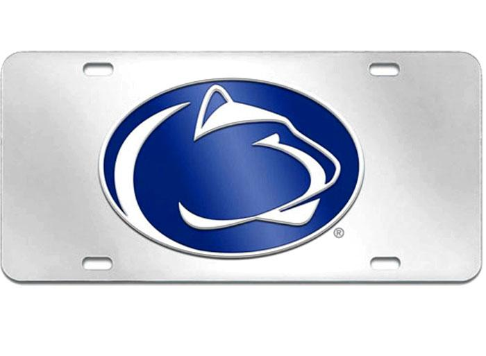 Penn state nittany lions acrylic license plate souvenirs for Lifetime fishing license ny