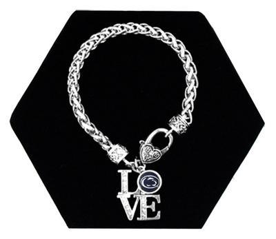 From The Heart - Penn State Love Logo Charm Bracelet