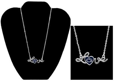 From The Heart - Penn State Love Script Necklace