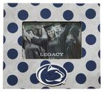 Penn State Polka Dot 4x6 Picture Frame