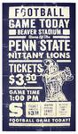 Penn State Football Distressed Game Poster 27