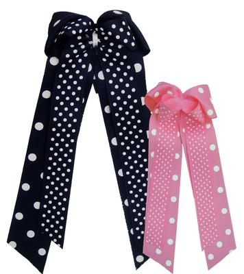 Divine Creations - Penn State Polka Dot Layered Bow