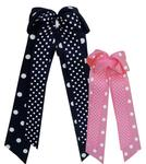 Penn State Polka Dot Layered Bow