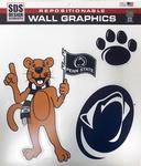 Penn State Mascot Wall Graphic Decal Set NAVYWHITE
