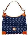 Penn State Dooney & Bourke Hobo Shoulder Bag NAVY
