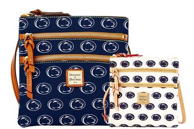 Dooney & Bourke - Penn State Dooney & Bourke Triple Zipper Cross-Body Bag
