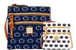 Penn State Dooney & Bourke Triple Zipper Cross- Body Bag