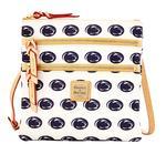 Penn State Dooney & Bourke Triple Zipper Cross-Body Bag WHITE
