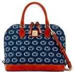 Penn State Dooney & Bourke Double Zip Satchel Bag NAVY