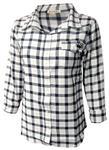 Penn State Women's Long Sleeve Boyfriend Plaid Shirt