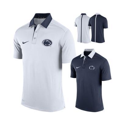 NIKE - Penn State Nike Men's Elite Collar Coaches Polo