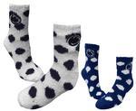 Penn State Polka Dot Fuzzy Socks