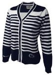 Penn State Women's Striped Cardigan
