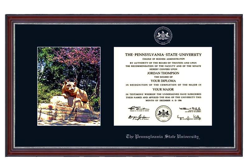 Penn State Lion Shrine Alumni Diploma Frame | Souvenirs ...