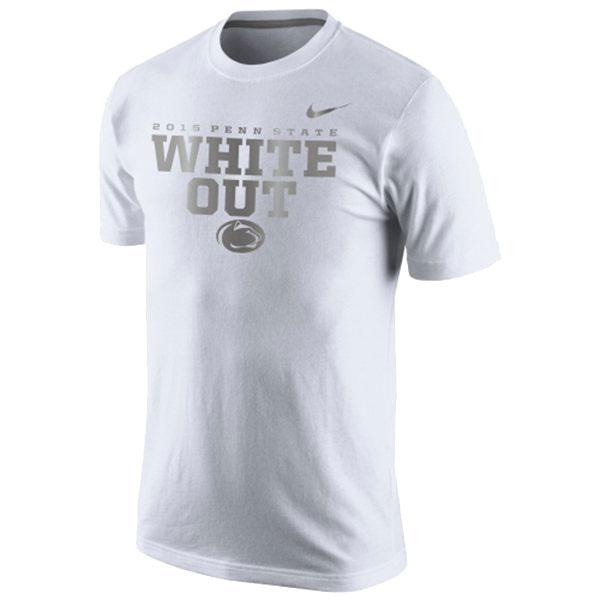 Penn State Nike Youth White Out 2015 T Shirt Tshirts