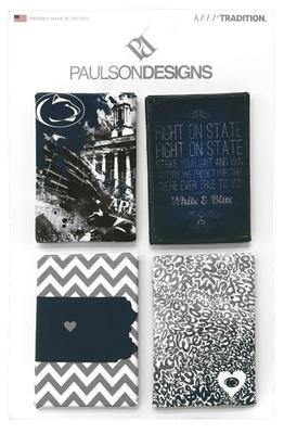 Paulson Designs - Penn State Canvas 4 Pack Magnets