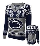 Penn State Women's Holiday V-Neck Sweater