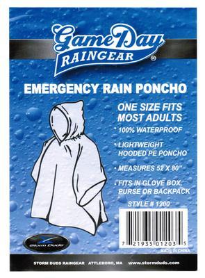 Storm Duds - Clear Rain Poncho