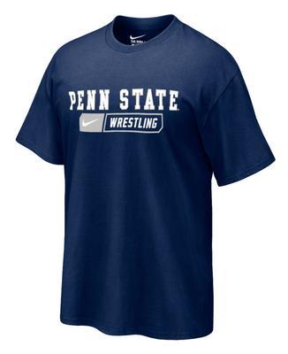 Penn State Wrestling Bar Adult T-shirt NAVY