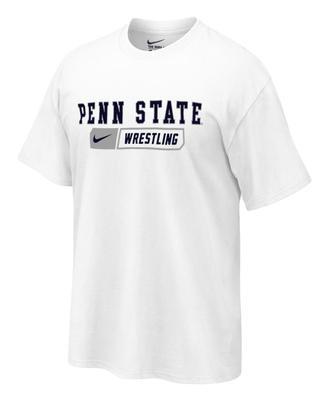 Penn State Wrestling Bar Adult T-shirt WHITE