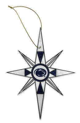 The Memory Company - Penn State Art Glass Snowflake Ornament