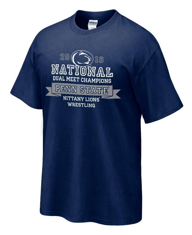 Penn state wrestling dual meet 2016 national champions t for National championship t shirts