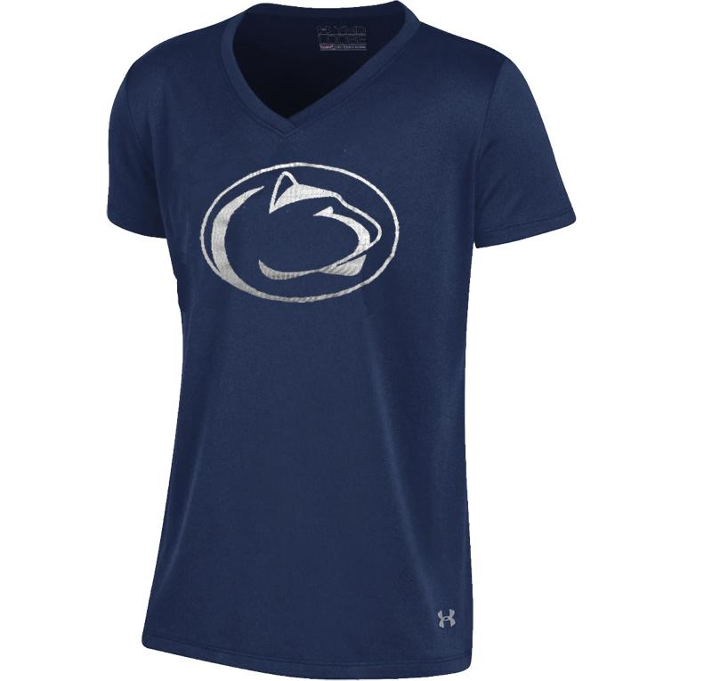 Penn State Under Armour Youth Girls 39 Shimmer T Shirt