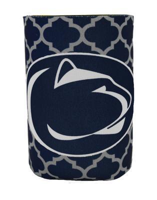 JayMac - Penn State Quatrefoil Logo Koozie