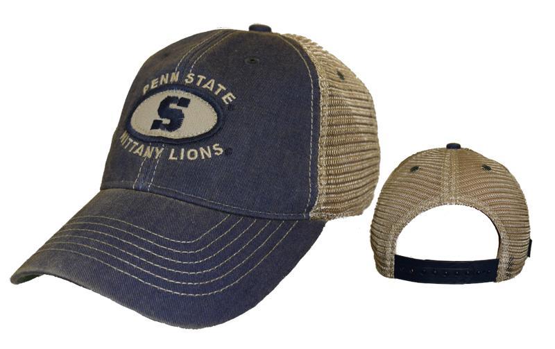 Penn State Oval Patch Trucker Hat Headwear Gt Hats