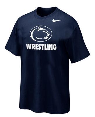 Penn State Nike Wrestling Logo Sport T-Shirt NAVY