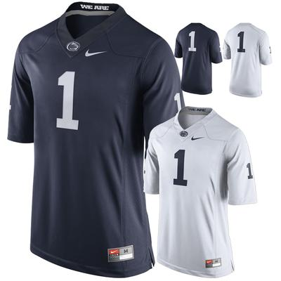NIKE - Penn State Nike Men's #1 Twill Football Jersey