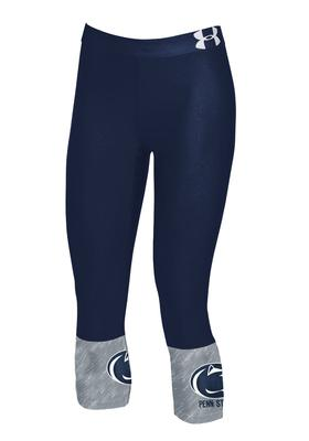 UNDER ARMOUR - Penn State Under Armour Youth Capri Leggings
