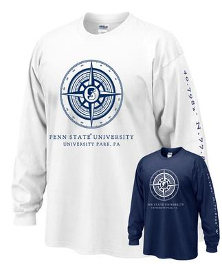 The Family Clothesline - Penn State Compass Adult Long Sleeve T-Shirt