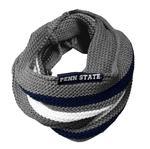 Penn State Striped Knit Infinity Scarf