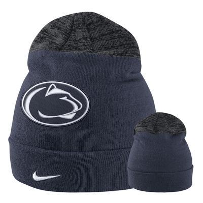 NIKE - Penn State Nike Youth Knit Sideline Beanie Hat