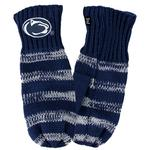 Penn State Lined Striped Fleece Mittens