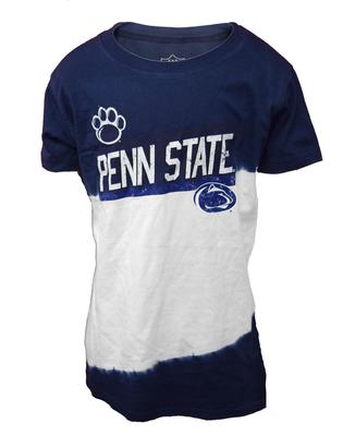 Wes & Willy Collegiate - Penn State Youth Girl's Dip Dye T-Shirt