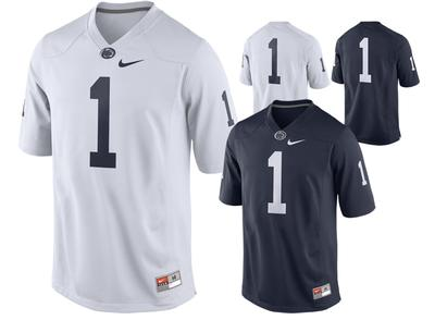 NIKE - Penn State Men's Nike Replica #1 Football Jersey