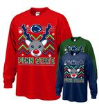 Penn State Reindeer Holiday Adult Long Sleeve