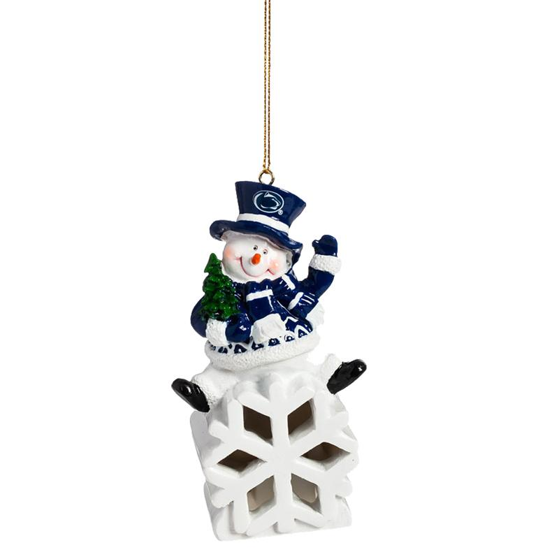Penn state led snowman ornament souvenirs holiday for Penn state decorations home